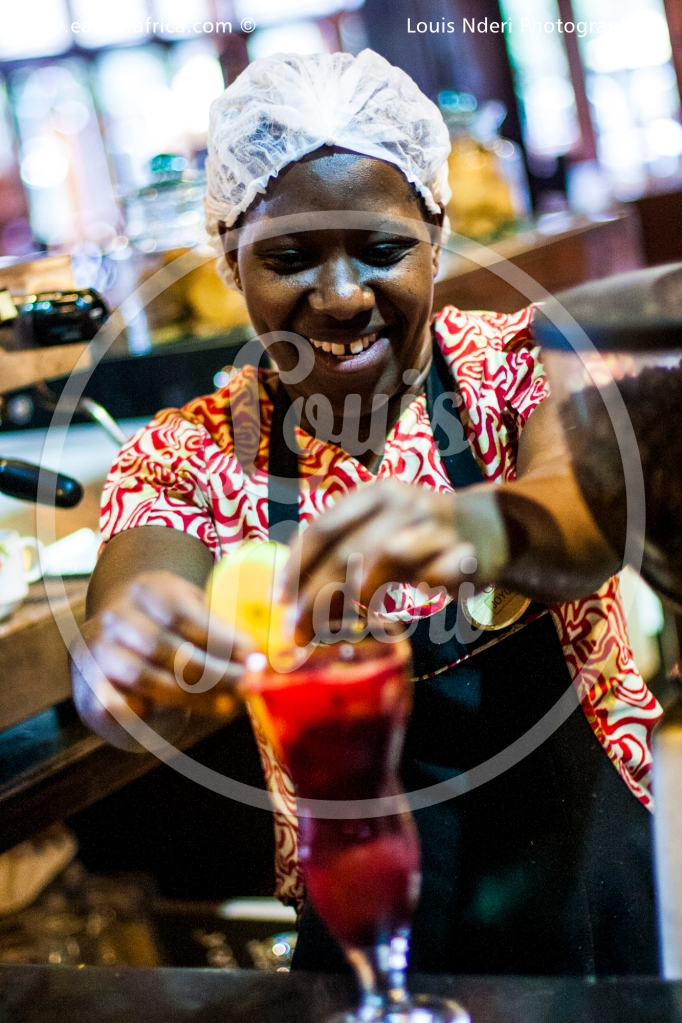 Waitress from Sarova Panafric